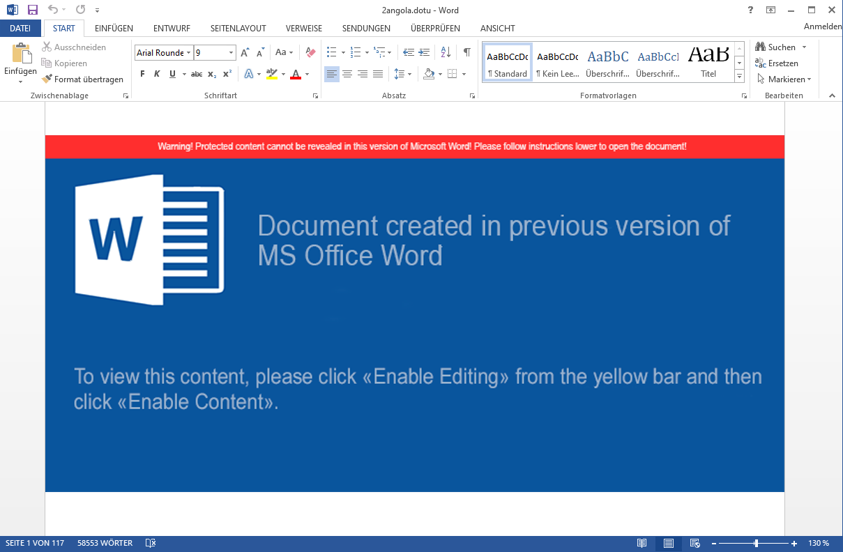 Screenshot of the word document